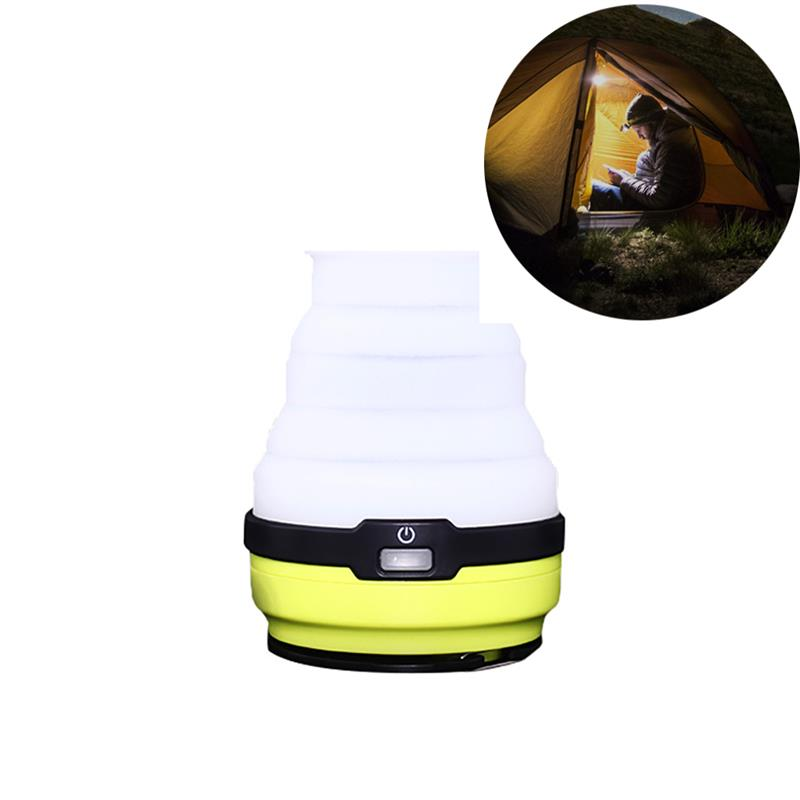 RUNACC USB Rechargeable Solar Lantern Foldable LED Camping Lamp Bright Tent Light Perfect for Hiking Camping and Emergency