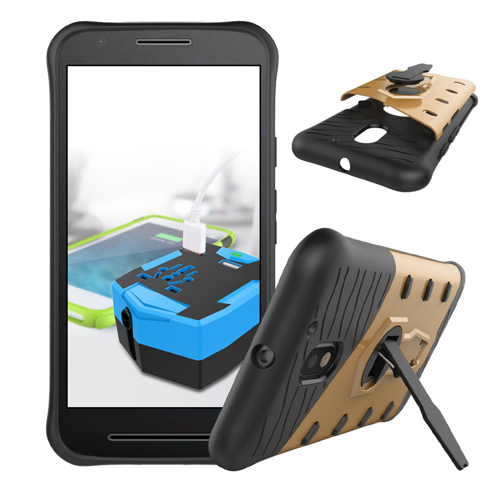 separation shoes 0dc39 ab13b US $3.9 |for Moto E3 / E3 Power 360 Kickstand Holder PC+TPU Aplit Joint  Hybrid Back Armor Cover With Built in Stand Cell Phone Case-in Fitted Cases  ...