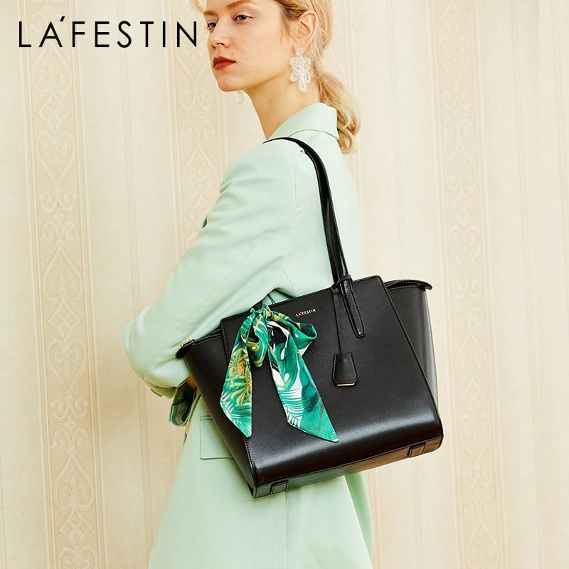 LA FESTIN Retro Tote Bag Women s Bag Leather Handbag Shoulder Bag luxury handbags women bags