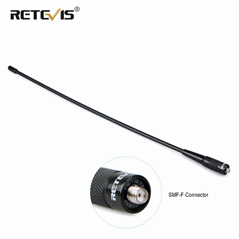 High Gain Retevis RHD-771 SMA-F Walkie Talkie Antenna VHF UHF Dual Band For Kenwood For Baofeng UV-5R UV-82 Bf-888S H-777 Radio