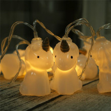1.5M 10pcs LED Unicorn Lamp Battery Powered Colorful LED String Light