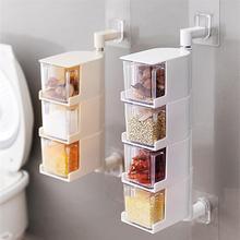 Multi Tier 360 Degree Rotating Wall Mount E Rack Seasoning Storage Box Jars Organizer Condiment