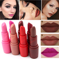 MISS ROSE New Fashion Color Beauty Red Lips Baton Matte Lip Stick Waterproof Makeup Pigment Brown Nude Matte Lipstick Pencils