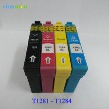 T1281 - T1284 Ink Cartridge For Epson Stylus SX420W SX425W SX435W SX235 WSX430W SX438 SX445W SX125 SX130 SX230 S22 Pinter t1281 refillable ink cartridge for epson s22 sx125 sx130 sx235w sx420w sx440w sx430w sx425w sx435w sx438 sx445w bx305f sx230