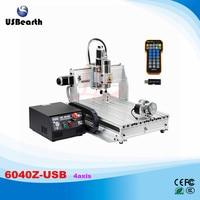 6040Z USB 4 Axis 2 2KW With Limit Switch Mach3 Remote Control Mini CNC Engraving Machine