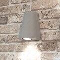 3 Вт/5 Вт Светодиодный наружный светильник Настенный бра Водонепроницаемый Гараж балкон патио серая отделка