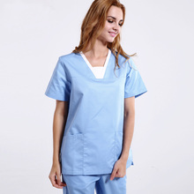 4be83eb4317 New Unisex Medical Scrub Tops and Pant Hospital Scrub Sets Doctors Nurse Workwear  Uniforms Dental Clinic Overalls Lab Gowns