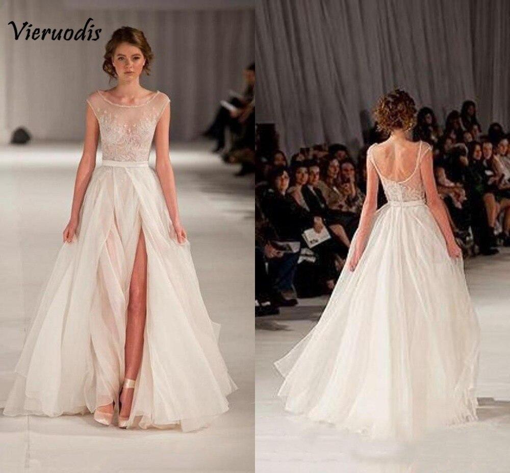Elie Saab robe de soirée transparent dos nu robes de soirée Cap manches perlées broderie longue Tulle robes de bal avec fente latérale