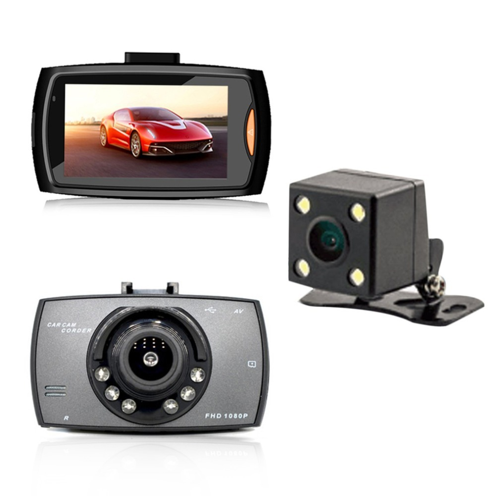 G30B Dual Lens Car DVR Front camera Full HD 1080P External Rear Camera 720*480P H.264 G-sensor Dash Cam Two Cameras