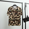 S-XXL Women Casual Camouflage T Shirt Short Sleeve Camo Tee Shirt Army Summer Tops