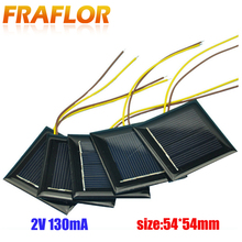 10Pcs/lot Polycrystalline Solar Panel Small Mini Solar Cell 2V 130mA Solar Cell Panel Battery Charger For DIY Study LED Light