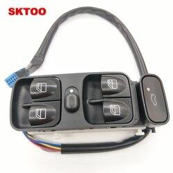 SKTOO samochodów podnośnik szyby główny wyłącznik dla Mercedes C klasa W203 C180 C200 C220 2038210679 A2038210679 A2038200110 2038200110