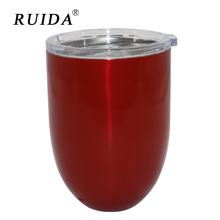 RUIDA 10oz Creative new 304 stainless steel egg cup double wine glass can be customized egg cup ST006