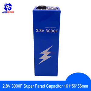 Image 1 - Супер фарадный конденсатор 2,8 В 3000F 161*56*56 мм низкочастотный ESR супер конденсатор 2.8V3000F для автомобильного транспортного средства