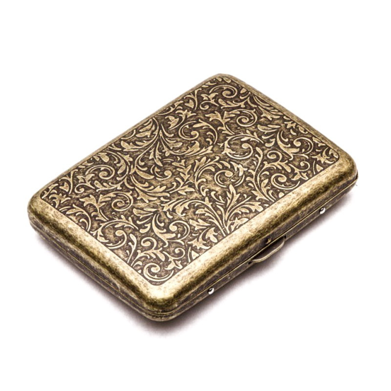Mettle High Quality Men's Cigarette Case With Gift Box For 20pcs Vintage Metal Cigarette Box On Sale