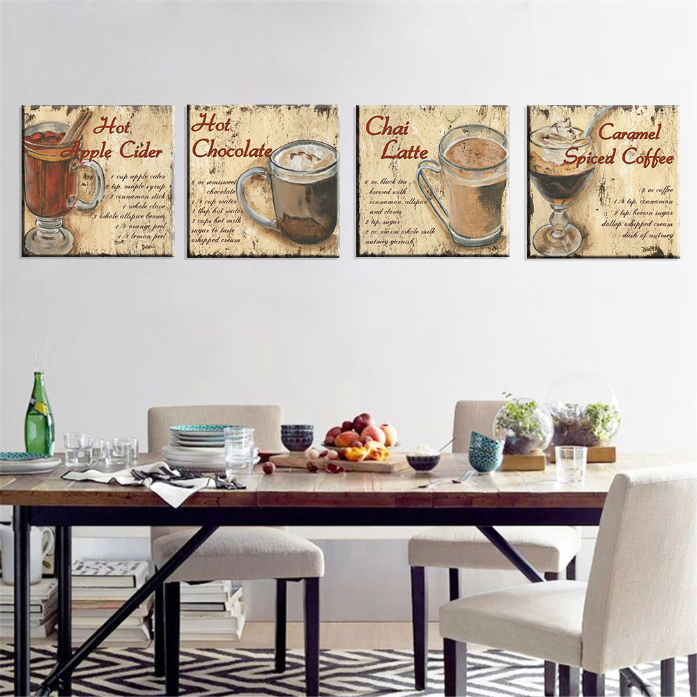 online buy wholesale tea wall from china tea wall wholesalers canvas painting english letter print cuadros decoration milk tea coffee shop home decor wall painting canvas