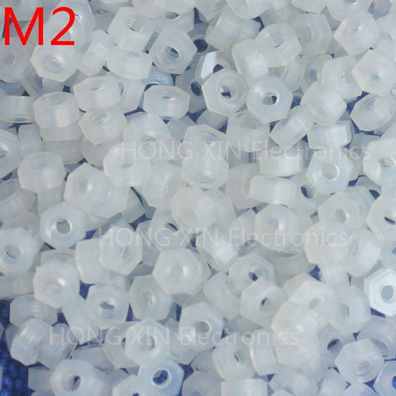 М2 1 шт. белый нейлон шестигранные гайки пластиковые гайки Удовлетворения RoSH стандартам Гексагональной ПК Электронные аксессуары Инструменты и т. д. высокого качества