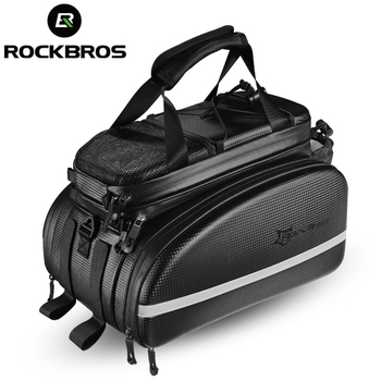 ROCKBROS Bicycle Carrier Bag MTB Bike Rack Bag Trunk Pannier Cycling Multifunctional Large Capacity Travel Bag With Rain Cover