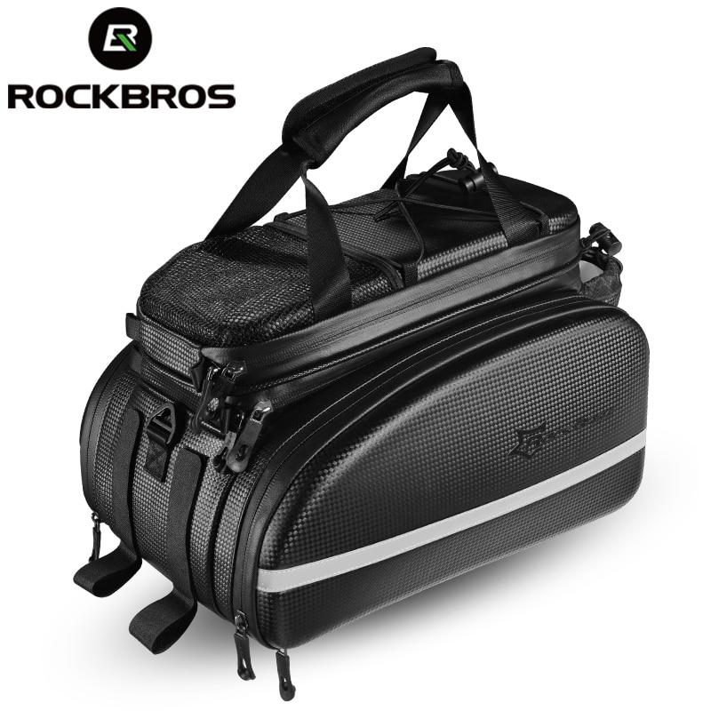 ROCKBROS Fiets Draagtas MTB Bike Rack Bag Trunk Pannier Fietsen Multifunctionele Grote Capaciteit Reistas Met Regenhoes