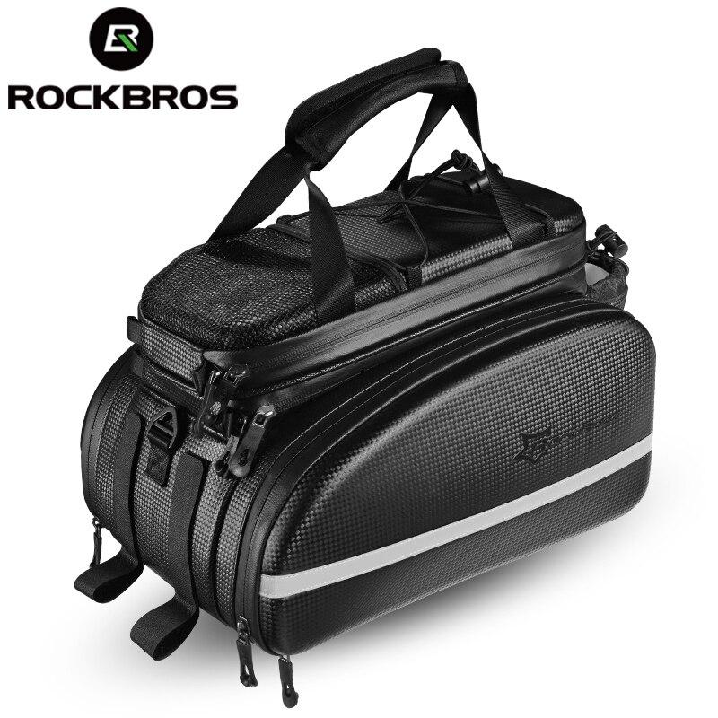 ROCKBROS sac porte-vélo vtt sac porte-vélo coffre sacoche cyclisme multifonctionnel grande capacité sac de voyage avec housse de pluie