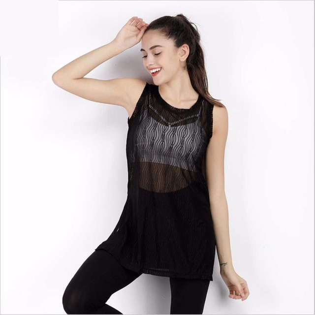 Summer Sexy Women S Mesh See Through Blouses Soft Comfortable