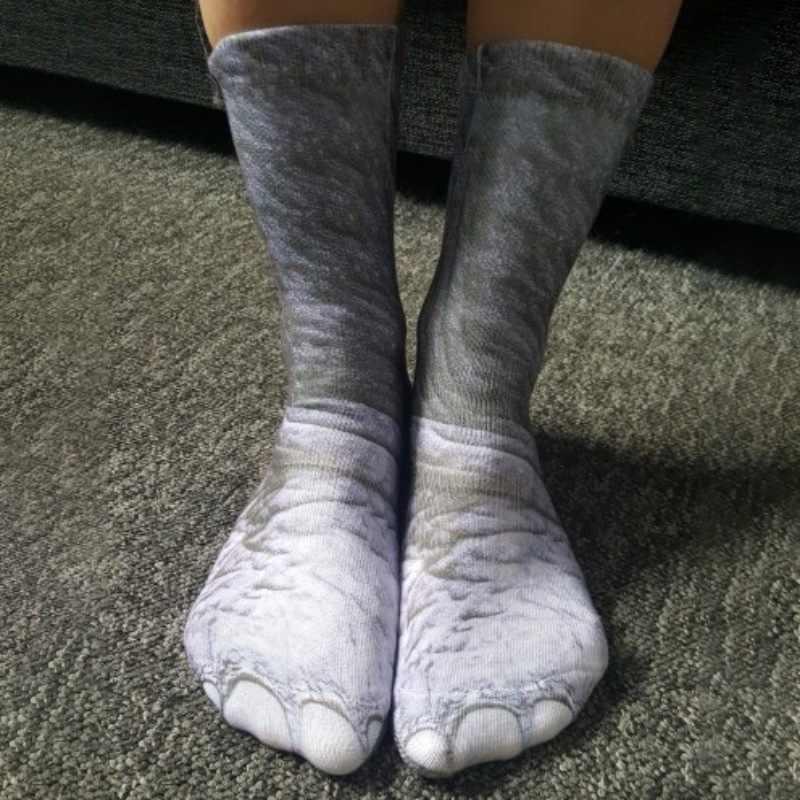 Cycling socks basketball socks yoga sports 3D printed animal foot hoof  socks running outdoor sports