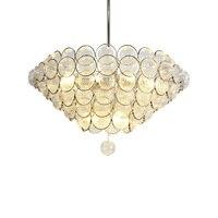 Pokój dzienny żyrandol mody luksusowe nowoczesne proste szkło wiszące lampy kreatywny projektant modelu pokoju restauracja doprowadziły żyrandol
