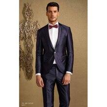 New Style Men Wedding Suits Slim Fit 2 Piece Tuxedo Custom Groom Blazer Prom Men Suit Terno Masculino (Jacket+Pants)