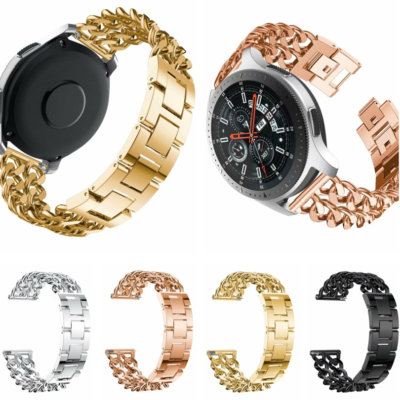 Watchband Luxury Stainless Steel Watchband Replacement Strap For Samsung Galaxy Watch 46mm SM-R800 Metal Wrist Bracelet Hot sale