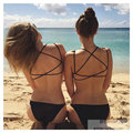 Sexy Hot Lingerie Girl Women Summer Cool Beach Tank Vest Back Hollow Out Bralette Corset Soft Casual Top Strapless Black White