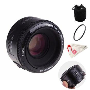 Yongnuo 50mm yn50mm f1.8 캐논 고정 초점 렌즈 용 dslr 카메라 용 대형 조리개 자동 초점 렌즈 canon 7/10/60/70
