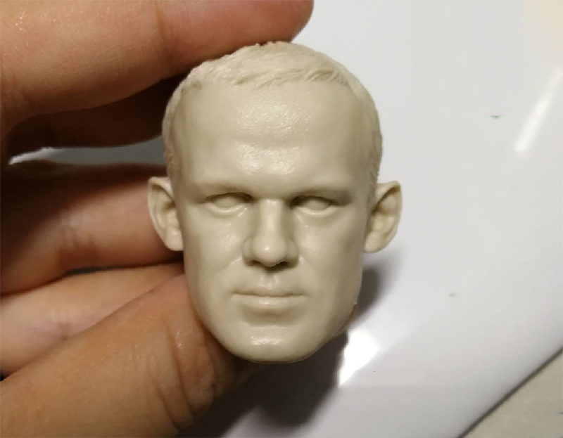 1/6 Famous Football Star Wayne Rooney Unpainted Head for 12''Bodies