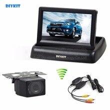 DIYKIT Wireless 4.3 Inch Car Reversing Camera Kit Back Up Car Monitor LCD Display HD Car Rear View Camera