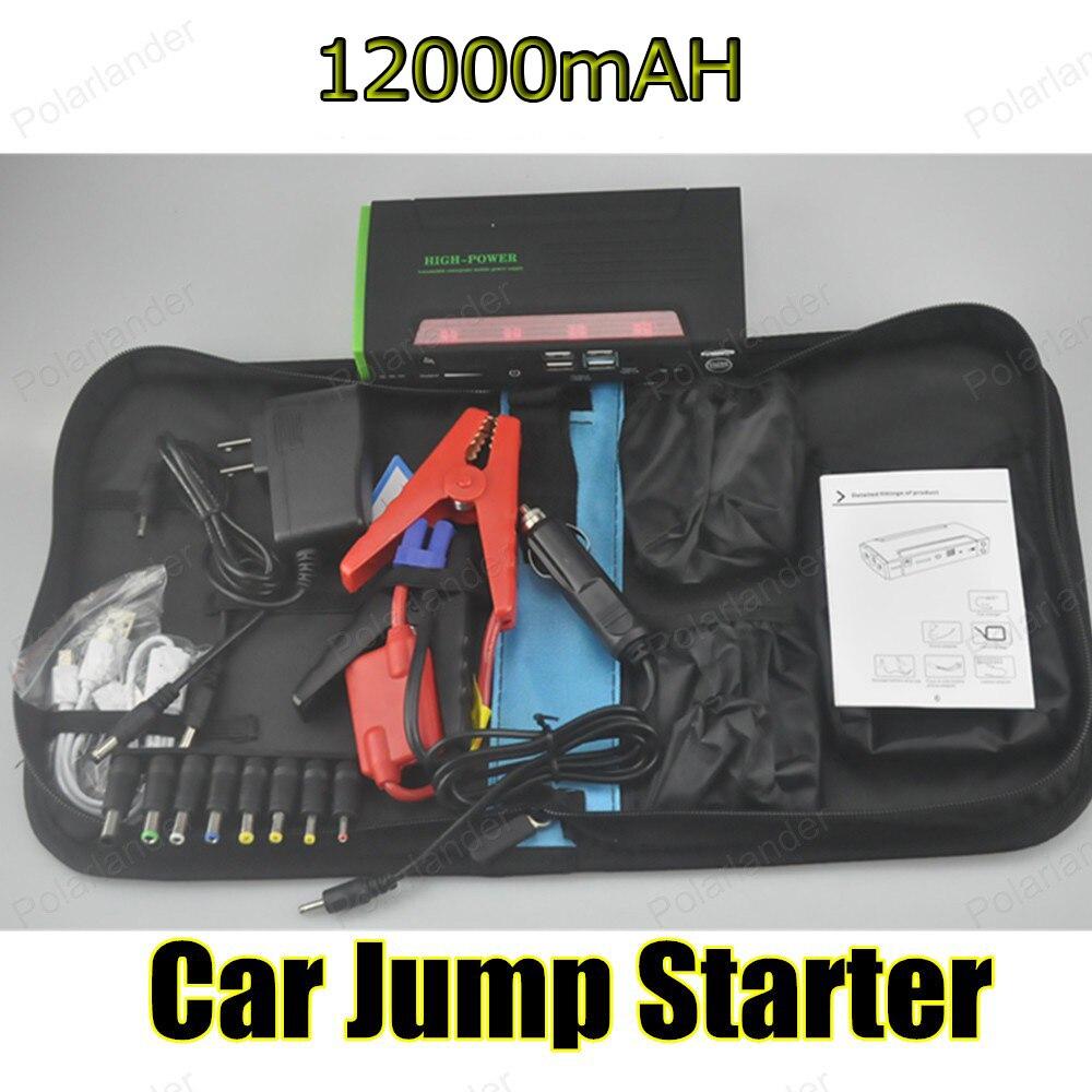 Voiture batterie externe voiture Jumper démarreur 12000 mAh haute capacité auto batterie voiture batterie externe 12 v moteur couleur verte