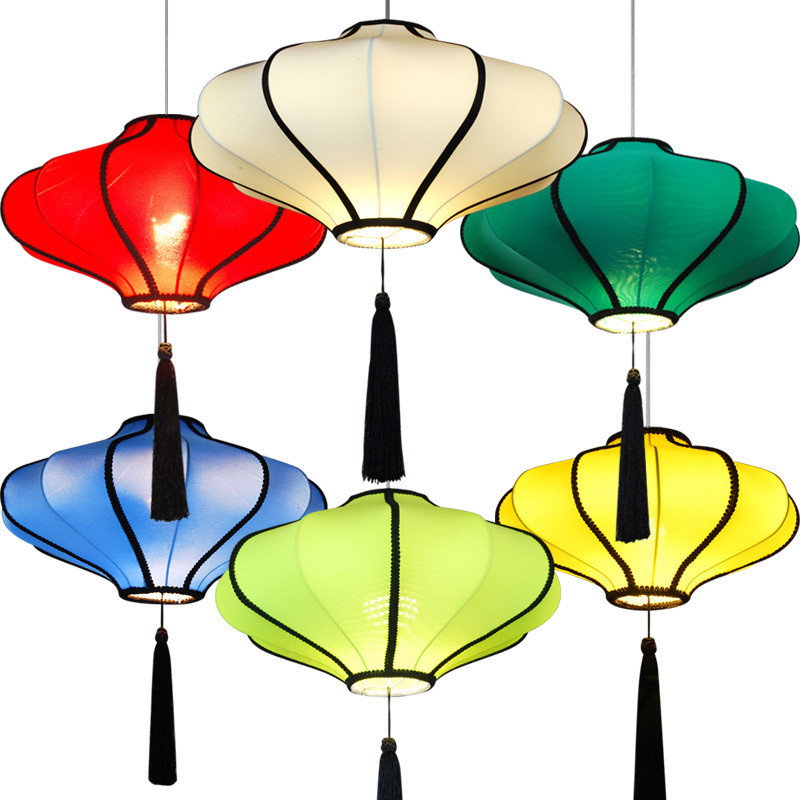 40COM modern chandelier chandelier new Chinese restaurant, teahouse hotel in Southeast Asia led chandelier cloth lanterns Taiwan