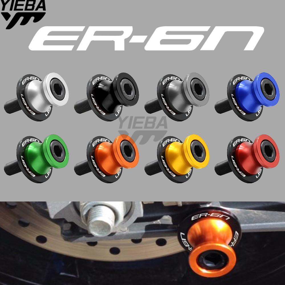 for kawasaki NINJA 650R/ER6F/ER6N ER-6N ER-6F Versys650 2009 - 2017 Motorcycle Accessories Stands Screws Swingarm Spool Slider