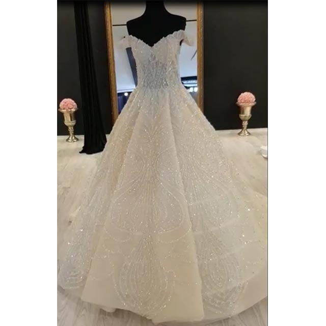Full Ball Gown Wedding Dresses: Eslieb Full Body Beads High End Custom Made Wedding Dress