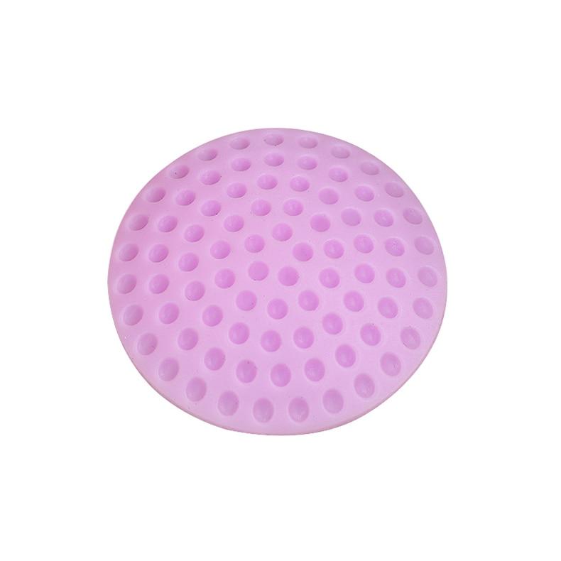 1 шт. настенные утолщенные бесшумные дверные Обвайзеры для гольфа, стильные резиновые Обвайзеры, ручки, дверной замок, защитная накладка, Защитная Наклейка на стену для дома - Цвет: purple