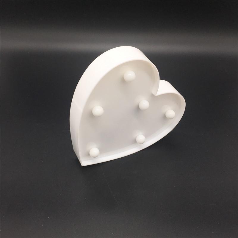 ZESOL Cute 3D Amour Coeur Marquee table LED Veilleuse batterie - Éclairage festif - Photo 6