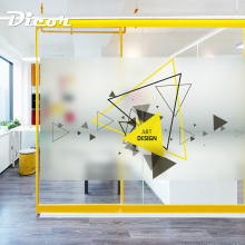 DICOR Geometry Business Glass Sticker Stained Vinyl Frosted Opaque Privacy Window Film For Office BLT1473KJ-DZMJ
