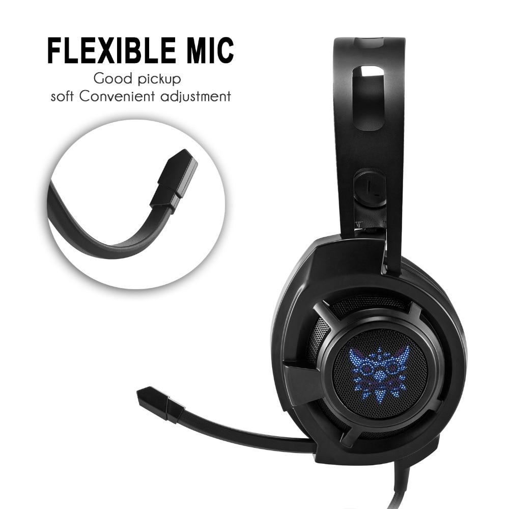 PHSOULTONE гарнитуры звук USB проводные наушники с микрофоном объем Управление и с светодиодный для PC Gamer