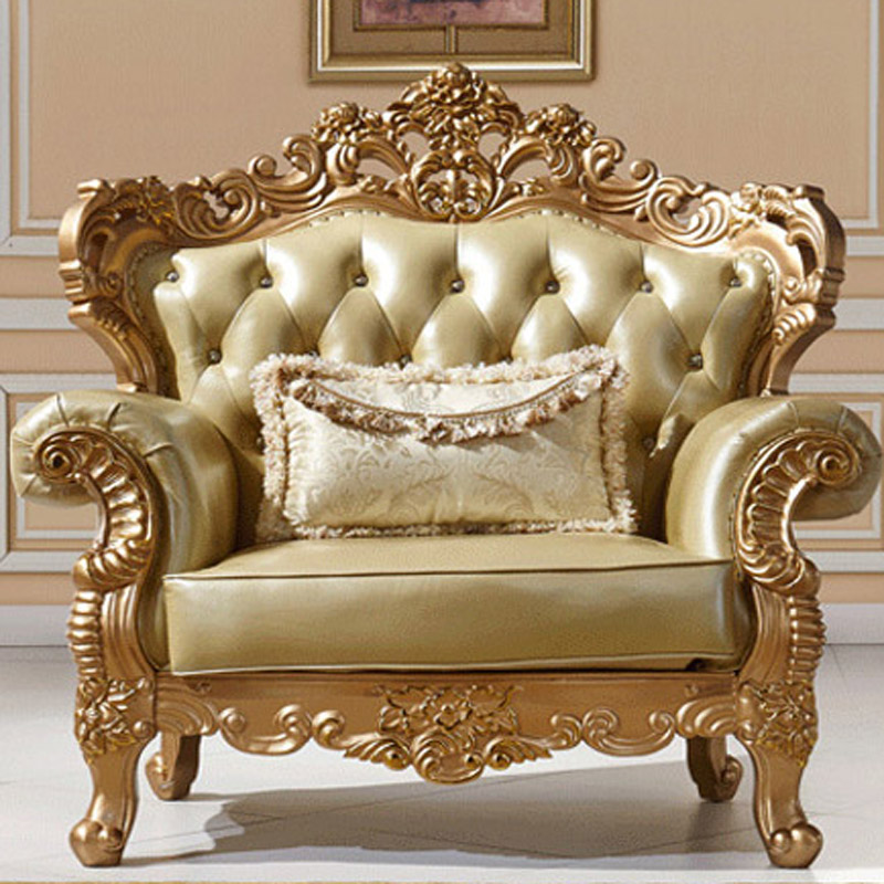 European Style Sofa Leather Sofa New Champagne Gold Solid Sofa Living Room  Furniture In Living Room Sofas From Furniture On Aliexpress.com | Alibaba  Group