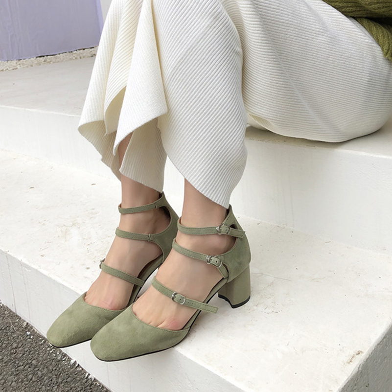 Zapatos Clásico Calidad Fiesta Las De 2 Gamuza Tacón Jane Diseño Moda Superior Negro Boda Mujer Fedonas 1 Alto Mary Mujeres Chico qpPw8pxC