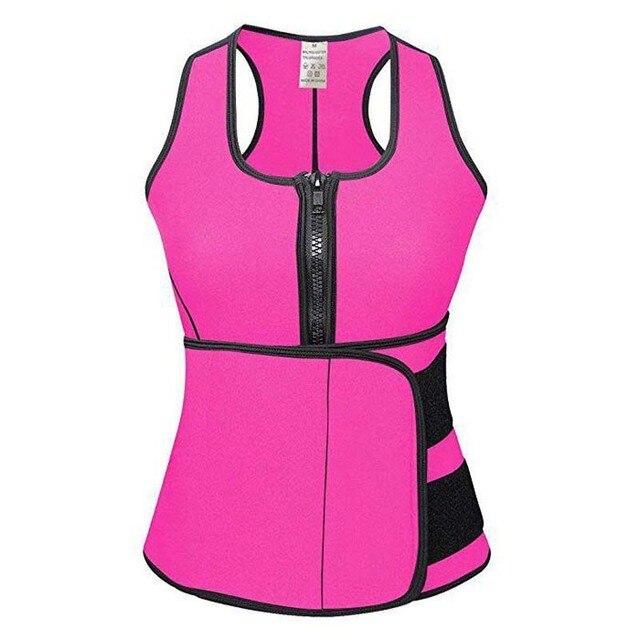 Neoprene Sauna Body Shaper Sweat Slimming Tops Zipper Adjustable Waist Shaper Vest Waist Trainer Shapewear Modeling belt