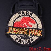 Prajna Jurassic Park Patch Embroidered Patches For Clothes Stripes Iron on On Biker Dinosaur Badge Sticker