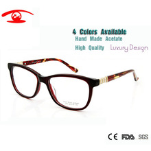 New Top Quality Glasses Frames Female Clear Fashion Hand Made Acetate Computer Women Diamond Luxury