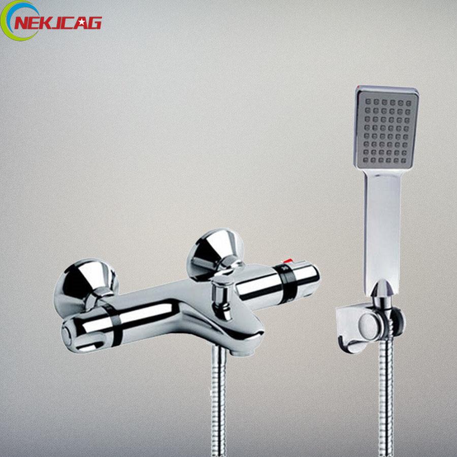Bathroom Shower Set Rainfall Head Shower + Waterfall Spout Tub Sink ...