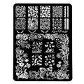 HK nuevo Pretty Nail Art Stamping Plantillas Plantilla De Acero inoxidable Del Cráneo de Halloween Mariposa Diseño de Placas de Uñas de Manicura Herramientas