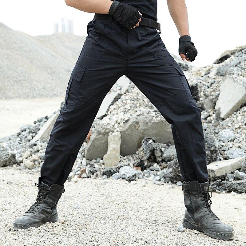 Tactical Pants Military Men Cargo Pants Army Workman Working Pantalon Bomber SWAT Hunter Joggers Wear-resisting Black Trousers
