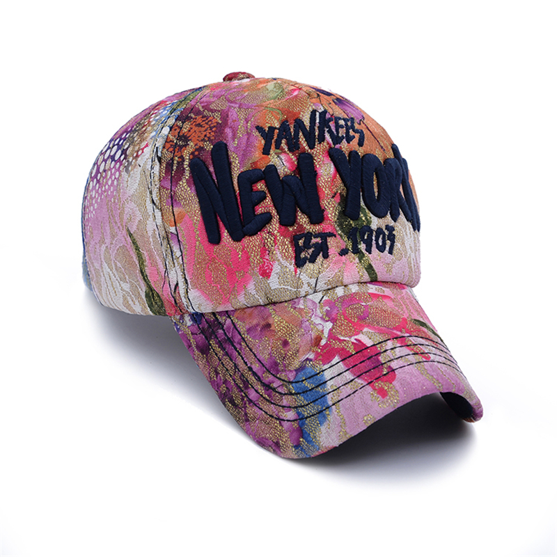 CLIMATE Fashion New York Flowers Fancy Baseball Caps One Size Adjustable  Nice Young Women Girls Lady Club Active York Caps Hat -in Baseball Caps  from ... 073695c261d6